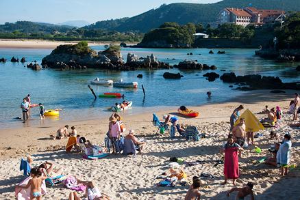 Playa Los Barcos en Puente Viesgo