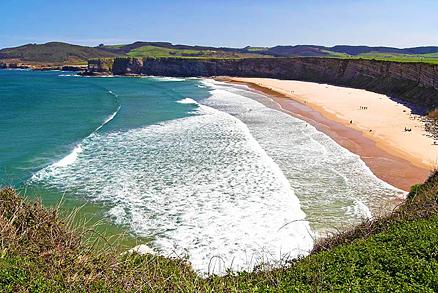 Playa de Langre Grande en Langre
