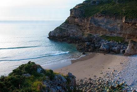 Playa Fuentes en San Vicente de la Barquera